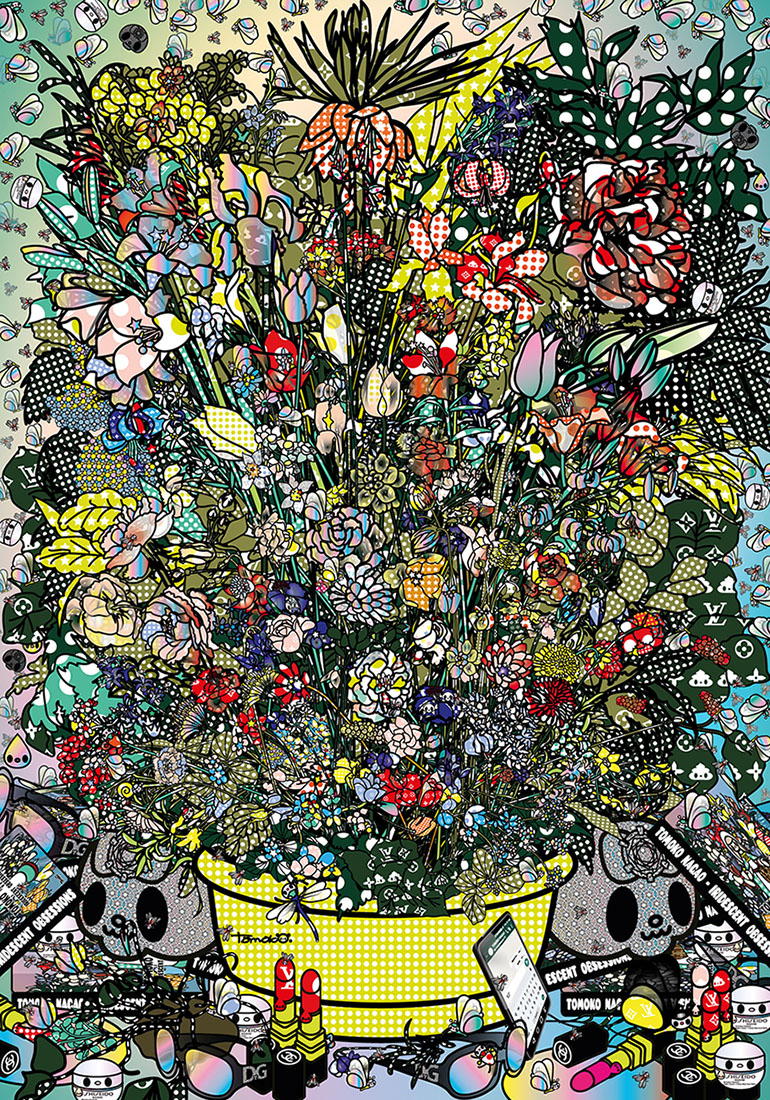 39e7c426d17d FLOWERS 3 AFTER JAN BRUGHEL ELDER WITH DOLCE GABBANA SHISEIDO CHANEL  LUOSVUITTON / 2018